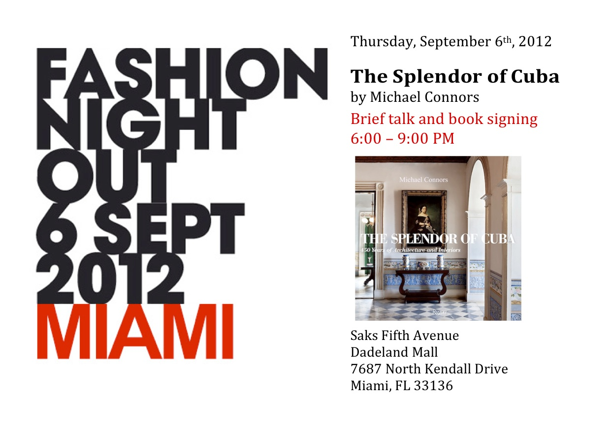"Book signing for ""The Splendor of Cuba""."