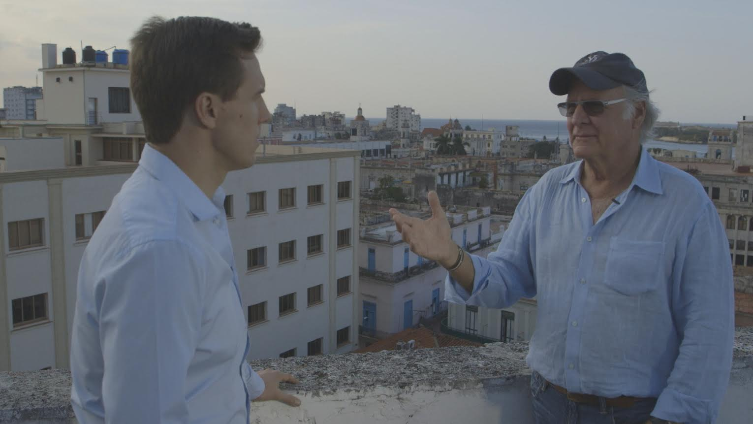 Bloomberg TV interviewing Connors in Havana